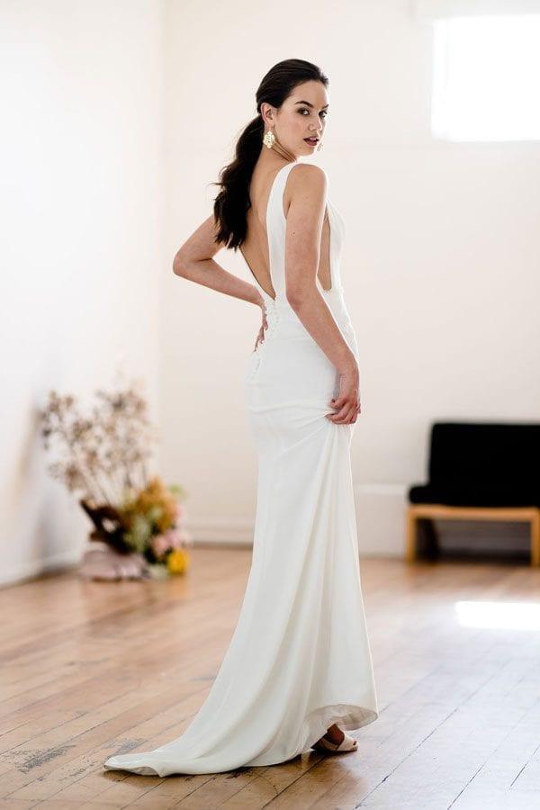 Viola Classic Plunge Dress