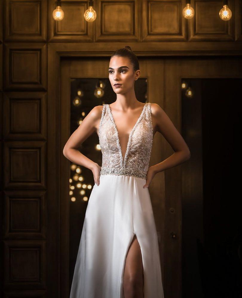 Zavana Bridal Thigh Slit Gown