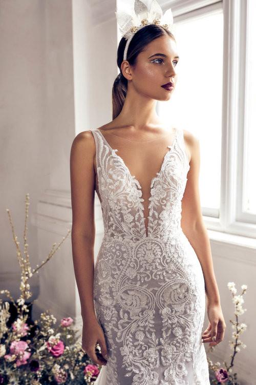 Zavana Intricately Beaded Gown