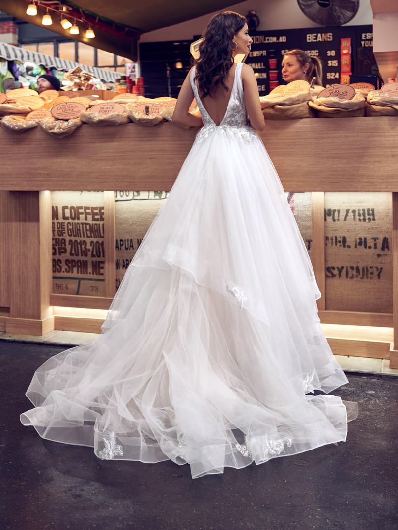 Zavana Plunge Multi Layer Wedding Ballgown