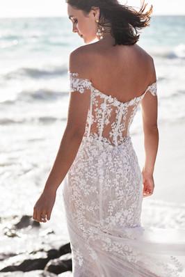 Zavana Bardot Embellished Gown