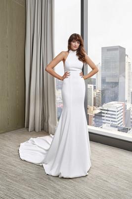 Cizzy Jo Halter Neck Crepe Gown