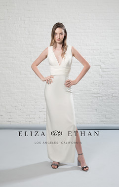 Eliza and Ethan's Ashley Bow Back Gown