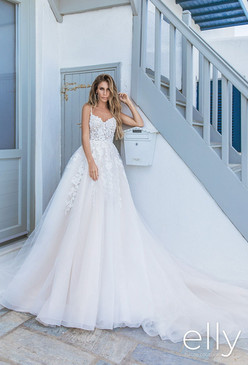Elly Bridal's Megan Full Gown in Soft Blush