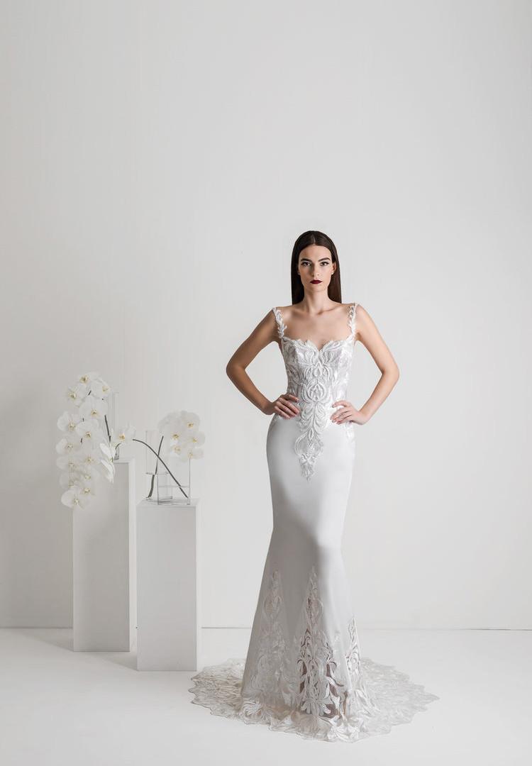 Zavana Square Neck Mermaid Wedding Dress