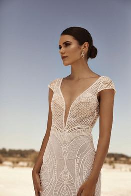 Zavana Beaded Mermaid Wedding Dress