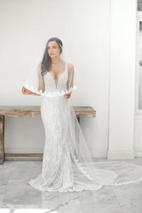 Zavana Bridal Beaded Slinky Gown