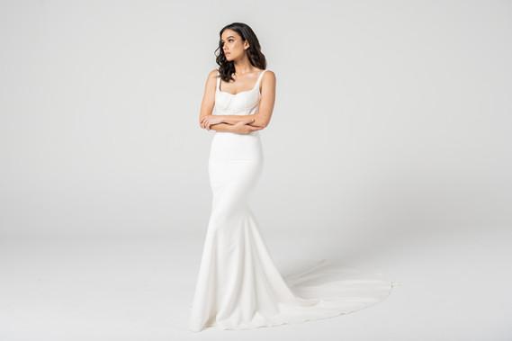 Stunning Seam Bodice Modern Wedding Gown by Cizzy Bridal
