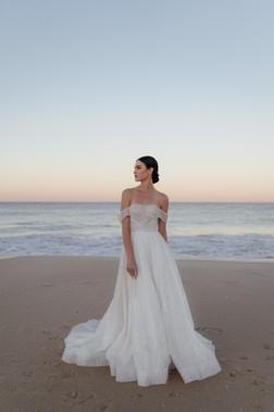 Full Sparkle Bardot Cizzy Gown