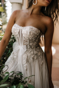Zavana Bridal Showstopping Ornate A-Line Tulle Gown