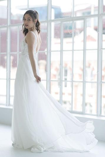Pixie Lace and Chiffon Wedding Dress