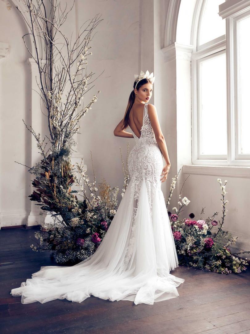 Zavana Tulle Flare Wedding Dress