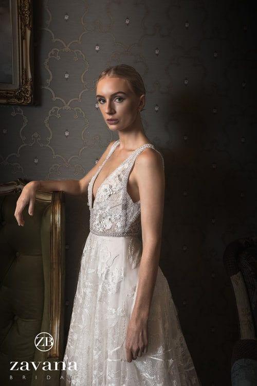 Zavana Bridal 3D Applique Ivy Gown