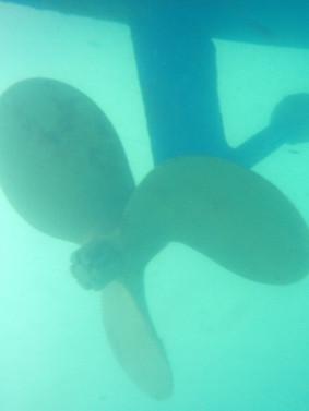 after underwater clean
