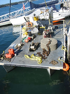 Bowline Marine Mooring Service Barge