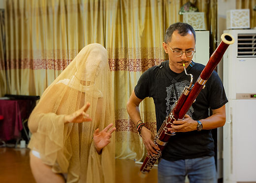 Study of The Properties of Water and The Passing of Time, A Duo for Butoh and Bassoon