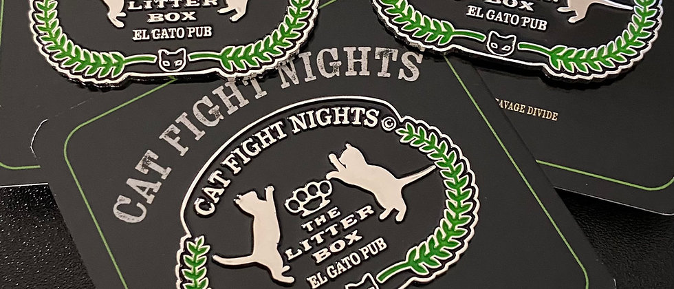 Cat Fight Nights Enamel Pin