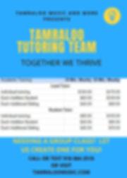 20200722 Tamraloo Tutoring Team Flyer w