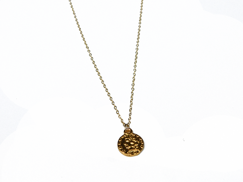 Small Greek Coin Necklace