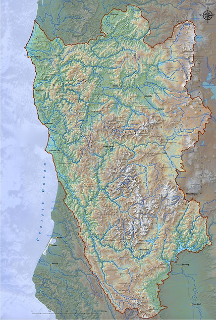 map of Klamath-Siskiyous