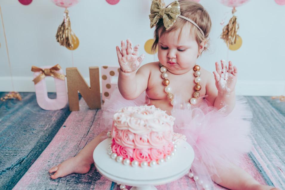 Fort Bragg, North Carolina Cake Smash Photographer