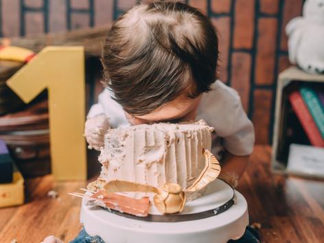 Fort Bragg, North Carolina Photographer, Cake Smash, Cake Smash Photographer
