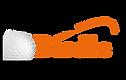 GolfBirdie Square V6 Golfball (BlackOrange).png
