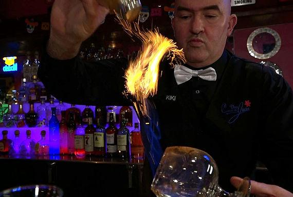 Casa Don Juan Mexican Restaurant Las Vegas Happy Hour Fire Drink Image