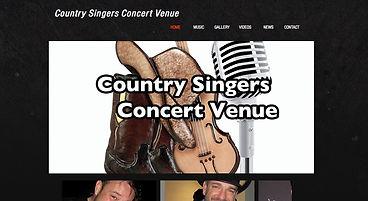 Spotlight Film Productions Web Site Design Country Singers Concert Venue Image