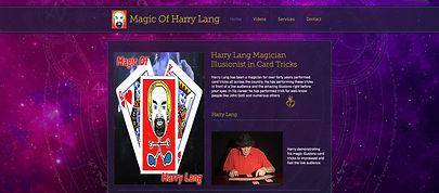 Spotlight Film Productions Web Site Design Magic Of Harry Lang Image
