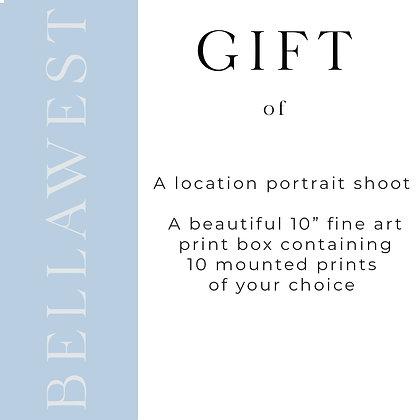 "Location Portrait with 10"" Fine Art Print Box"