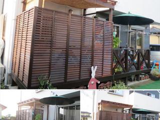 2014-09-10 東海村・S様邸 ウッドデッキの屋根設置