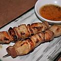 Pork Belly & Garlic Skewers