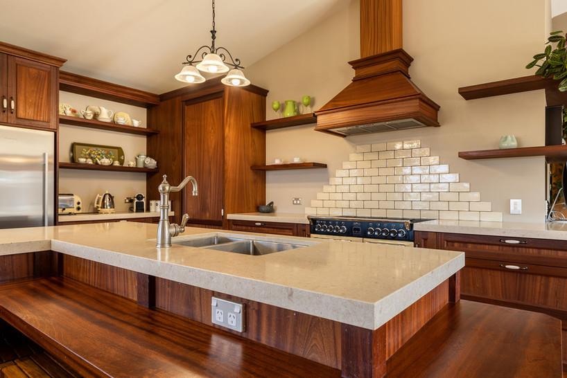 Custom built kitchen.