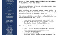Press Release: Lawyers Collaborative for Diversity Elects New Officers and Board Members for the 202