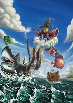 Pirate Sorcerer Fatbird and Brokkoli