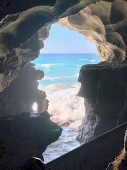 Cave in Hercules in Morocco