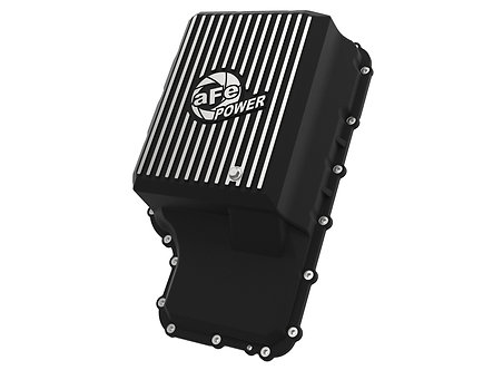 Ford F250+ 20-21 - aFe POWER Pro Series Transmission Pan Black w/Machined Fins