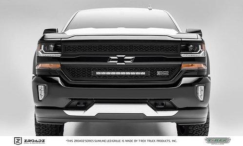 """2016-2018 Silverado 1500 ZROADZ Grille, Black, 2 Pc, Insert, Incl. (1) 20"""" LED"""