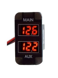 Digital L.E.D. Dual Battery Volt Meter