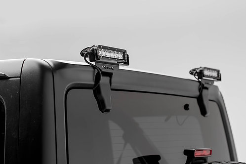 18-20 Jeep JL/JLU Rear Window Kit,  w/2 - 6in LED SRS Light Bars