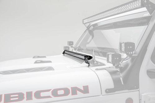 18-20 Jeep JL/JLU, Gladiator Hood Cowl LED Kit, w/30 Inch LED SRS Light Bar
