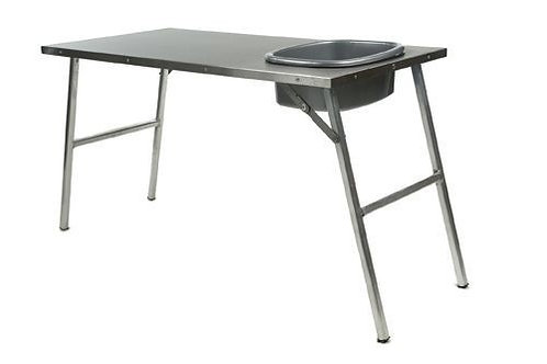 Stainless Steel Prep Table w/ Basin