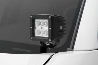 Hood Hinge LED Light Pods, A Pillar Mounts - By ZRoadz