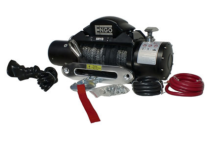 10,000 lbs. SR-Series Winch, Synthetic Cable with Hawse Fairlead