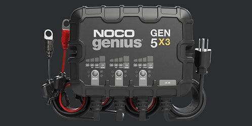 GEN5X3  12V 3-Bank, 15-Amp On-Board Battery Charger