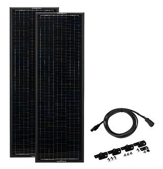 OBSIDIAN SERIES 180 Watt (Long) Solar Panel Kit (2 x 90)
