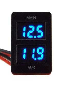 Digital L.E.D. Dual Battery Volt Meter - P1503DVM