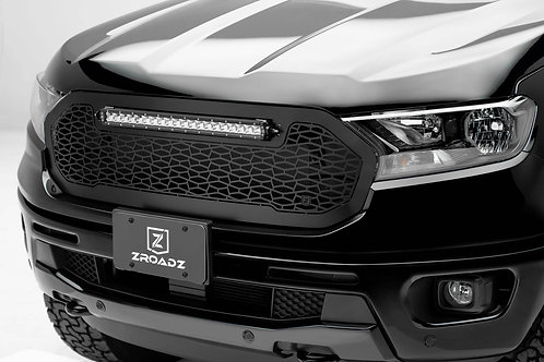 "2019-2020 Ford Ranger Grille 1 Pc Replacement  W/20"" LED Bar"