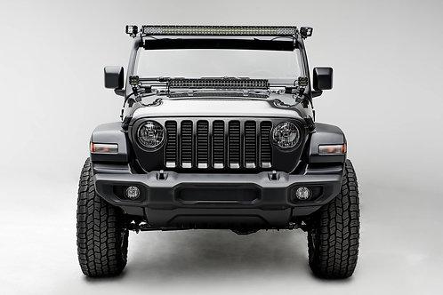 18-20 Jeep JL/JLU, Gladiator Hood Cowl LED Kit, w/30 Inch DBL Row Light Bar